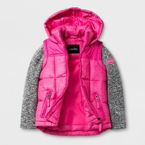 Stevies Toddler Girls' Puffer Jacket - Fuchsia