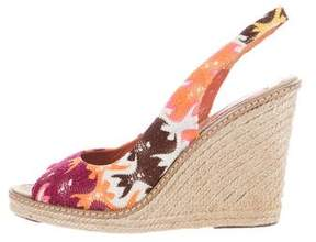 Missoni Abstract Espadrille Wedges