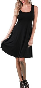 24/7 Comfort Apparel Women's Sleeveless Tank Knee-Length Dress