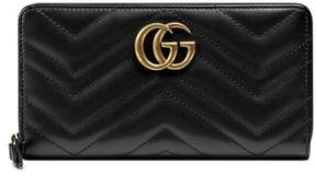 Gucci Women's Gg Marmont Matelasse Leather Zip-Around Wallet - Black