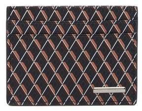 Ermenegildo Zegna Printed Leather Card Case