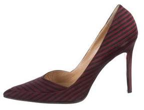 Christian Louboutin x L'wren Scott Satin Pointed-Toe Pumps