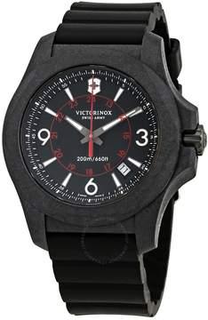 Victorinox I.N.O.X. Carbon Black Dial Men's Rubber Watch