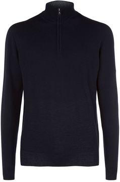 Hackett Knitted Half-Zip Sweater