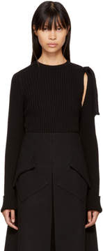 Sara Lanzi Black Detached Sleeve Pullover
