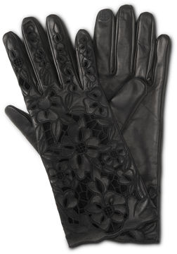 Henri Bendel Floral Lace Gloves