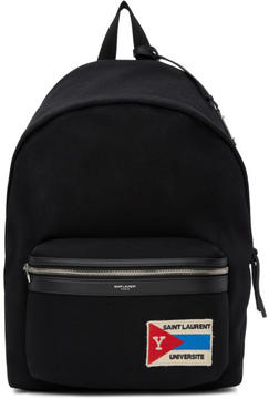 Saint Laurent Black Patch City Backpack