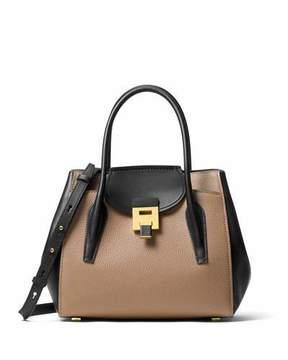 Michael Kors Bancroft Medium Two-Tone Tote Bag, Desert/Black - DESERTBLK - STYLE