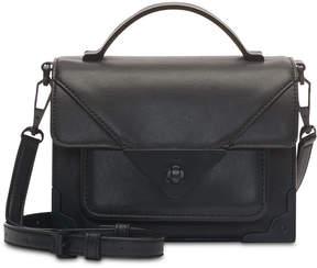 DKNY Jaxone Mastrotto Leather Top Handle Flap Crossbody