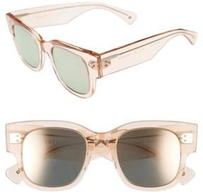 Salt Women's Tavita 50Mm Polarized Square Sunglasses - Antique Rose/ Rose Mirror