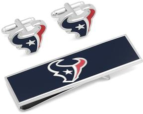 Ice Houston Texans Cufflinks and Money Clip Gift Set