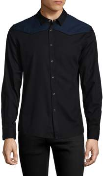 BLK DNM Men's 67 Spread Collar Sportshirt