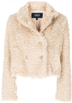 Armani Jeans cropped faux fur jacket