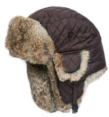 Surell Rabbit Aviator Bomber Hat