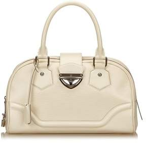 Louis Vuitton Pre-owned: Bowling Montaigne Gm. - WHITE - STYLE