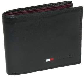 Tommy Hilfiger Men's Leather Billfold Coin Wallet, Black