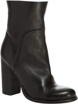 Max Studio Recall - Pebble Grain Leather Stacked Heel Booties