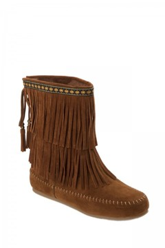 UNIONBAY Bloomy Fringe Suede Boot