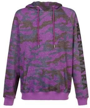 Cynthia Rowley | Benny Camo Hoodie | Xl | Purple/navy