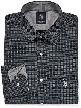 U.S. Polo Assn. USPA Uspa Dress Shirt Long Sleeve Geometric Dress Shirt