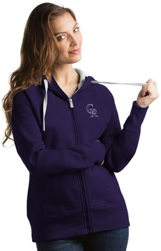 Antigua Women's Colorado Rockies Victory Full-Zip Hoodie