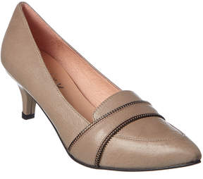 French Sole Tailored Leather Pump