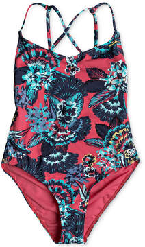 Roxy 1-Pc. Tropical-Print Swimsuit, Big Girls