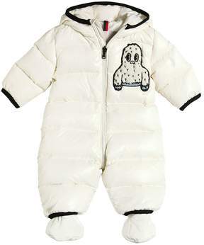 Moncler Yeti Hooded Nylon Down Baby Bunting