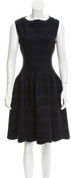 Alaia Wool-Blend Fit-And-Flare Dress w/ Tags