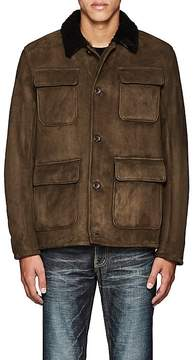 Barneys New York MEN'S PATRICK SUEDE & SHEARLING JACKET