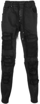 Philipp Plein distressed drawstring trousers