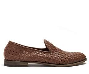 Fratelli Rossetti Batik E woven-leather loafers