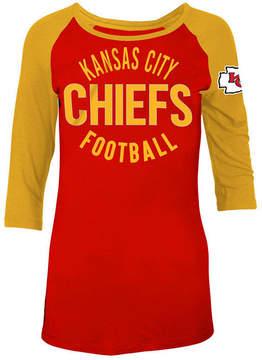5th & Ocean Women's Kansas City Chiefs Rayon Raglan T-Shirt