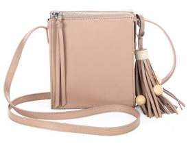 Elizabeth and James Sara Tassel Leather Crossbody Bag