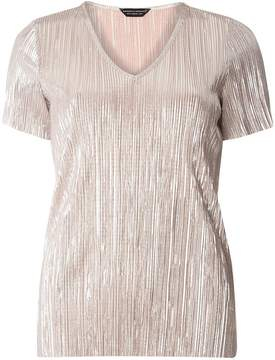 Dorothy Perkins Champagne Plisse Top