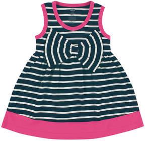 Hudson Baby Navy Stripe Big-Bow Scoop Neck Dress - Infant