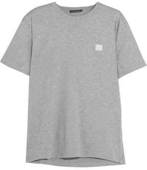 Acne Studios Nash Face Appliquéd Cotton-jersey T-shirt - Light gray
