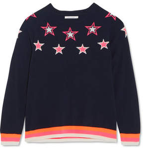 Chinti and Parker Star Cashmere Sweater - Navy