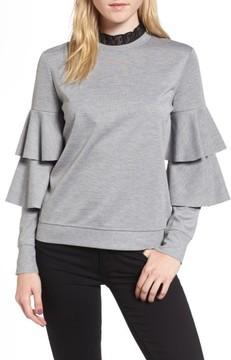 Chelsea28 Women's Ruffle Sleeve Sweatshirt