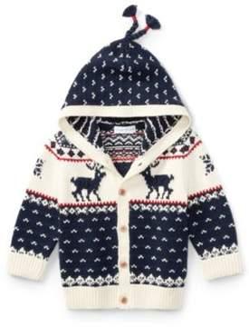 Ralph Lauren Reindeer Cotton-Wool Cardigan Essex Cream Multi 3M