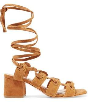 Sandro Andy Lace-Up Suede Sandals