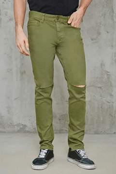21men 21 MEN Raw-Cut Slim-Fit Jeans