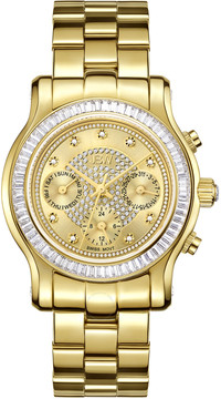 JBW Laurel Gold-tone Multi-Function Diamond Dial Gold-tone Steel Bracelet Ladies Watch