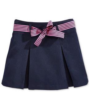 Nautica School Uniform Contrast-Ribbon Scooter Skirt, Little Girls