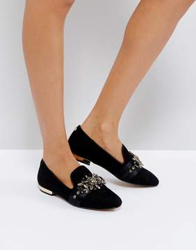 Carvela Lottie Black Patent Embellished Ballet Flats