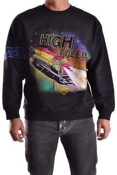 McQ Men's Black Cotton Sweatshirt.