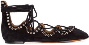 Isabel Marant Black Suede Leoni Ballerina Flats