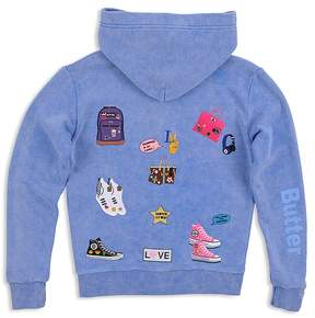 Butter Shoes Girls' Patches Hoodie - Big Kid