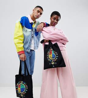 Asos DESIGN x glaad& tote bag with print