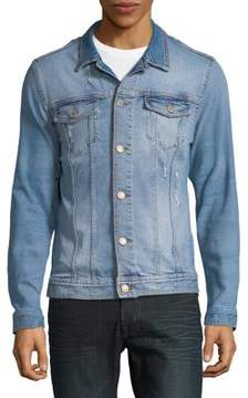 Jack and Jones Distressed Denim Jacket